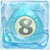 Water bomb 8 under ice