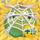 Apple under cobweb on hay 5x