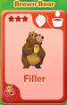Filler Brown Bear
