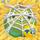 Apple under cobweb on hay 8x