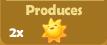 Produces 2x Suns
