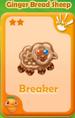 Breaker Ginger Bread Sheep