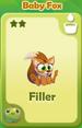 Filler Baby Fox