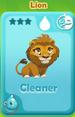 Cleaner Lion