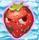 Strawberry grumpy on snow