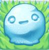 Snowball on grass