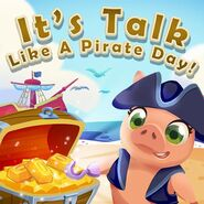 Amelia It's Talk like a Pirate Day!