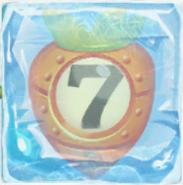 Carrot bomb 7 under ice
