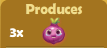 Produces 3x Onions