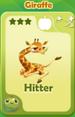 Hitter Giraffe