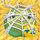 Apple under cobweb on hay 2x