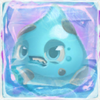 Water grumpy under ice on slime