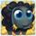 Black sheep on hay