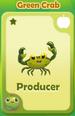 Producer Green Crab
