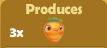 Produces 3x Carrots