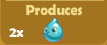 Produces 2x Water Drops