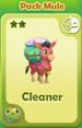 Cleaner Pack Mule
