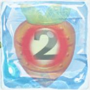 Carrot bomb 2 under ice