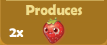 Produces 2x Strawberries