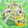 Apple under cobweb on grass 4x