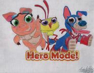 Amelia Choocho and Hunter in Hero Mode!