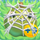 Apple under cobweb on grass 9x