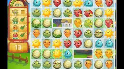 Farm Heroes Saga Level 124 3 stars