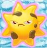 Sun grumpy on snow