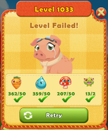 Level Failed with Pig 1033