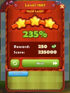 Level 1887 HLevel won 3-stars