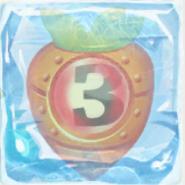 Carrot bomb 3 under ice