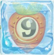 Carrot bomb 9 under ice