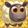 White sheep on hay