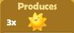 Produces 3x Suns