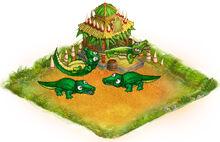 Yard crocodiles