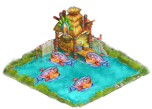 Yard fish pond
