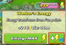Energie met diamanten