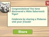 White Sabertooth Tiger