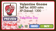 Valentine Gnome Market Info