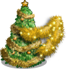 Gold Tinsel Tree-icon
