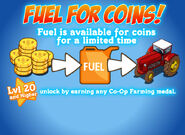 Fuel for coins load