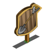 Set of 2 Shovels Mastery Sign-icon