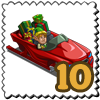 Sleigh CarSleigh Car Stamp-icon