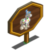 4th Birthday Party Horse Mastery Sign-icon