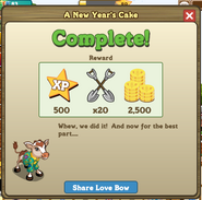 A New Year's Cake Complete Message