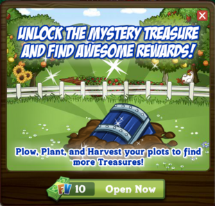 Mystery Treasure Cash Option