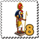 Ra Statue Stamp-icon