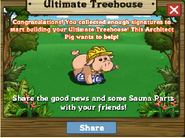 Ultimate Treehouse Stage 1 Completion Message