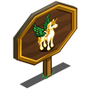 Golden Pegacorn Mastery Sign-icon
