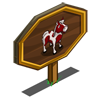 Red Pinto Horse Mastery Sign-icon
